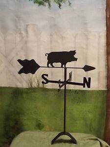 pig-weathervane-black-wrought-iron-roof-mount