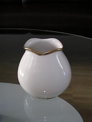 Gold Small Rim (Eschenbach Bavaria Kleine Vase Small Vase Creme Cream Goldrand Golden Rim)