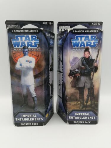 Star Wars Miniatures Imperial Entanglements 2x Booster Packs, Factory Sealed HTF