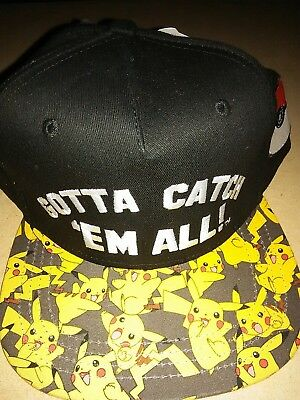 POKEMON Gotta Catch 'Em All Snapback Baseball Hat Cap Adjustable NWT SHIPS FREE