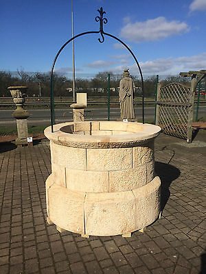 Natural Stone Well Head Feature, Carved Sandstone, Medievel Style, Stunning