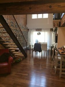 Amazing 2 story apartment, 1600 SF, bricks Stones, wood beams