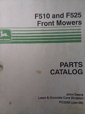 John Deere F510 F525 Front Lawn Mower Tractor Parts Manual Pc2262 14 17 H.p