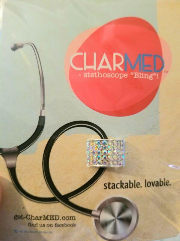 NEW CharMed Stethoscope Bling Charm- Iridescent Color Rhinestones