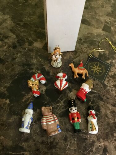 Lot of 9 CHRISTOPHER RADKO MINIATURE CHRISTMAS ORNAMENTS