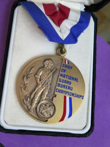 "1976 Chief of National Guard Bureau Championships NATIONAL PISTOL MEDAL 2 1/2"""