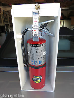 New 2018 5-lb Fire Extinguisher Complete Wcabinet Glass Lock Breraker Bar