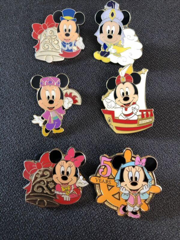 Tokyo Disney Resort Sea reward/prize 6 Pin Set Mickey Minnie