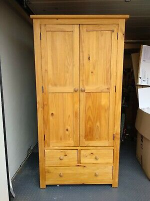 Solid Wood Pine Wardrobe