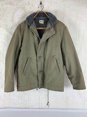 True Vintage N1 Deck Jacket N1-2 Jungle Cloth Large 42 Thrashed Fully Lined US L