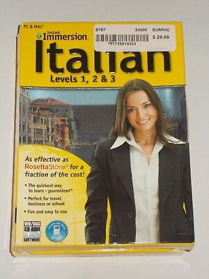 Instant Immersion Italian Levels 1 2  And 3 Computer Software For Pc And Mac