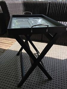 Decorative Photo end Table/Serving tray