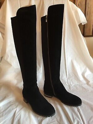 MICHAEL KORS Womens Sabrina Suede Over-The-Knee Flat Boots 6.5 Medium