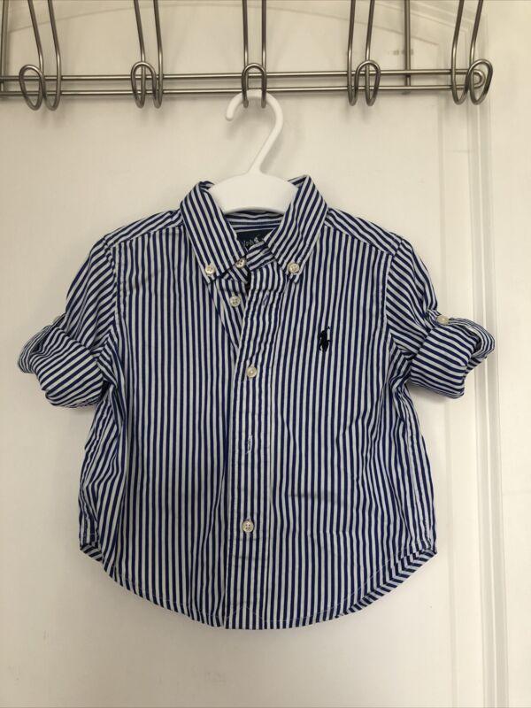 ralph lauren toddler 12M shirt with collar