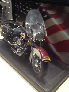 Die cast Harley Davidson 1/10 scale and display stand