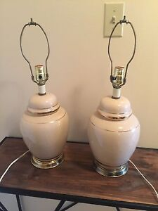 Matching table lamps - $20 for the pair
