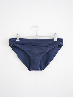 HOF115:COS Bikinihöschen gerippt blau / Ripple bikini bottoms blue dark 40 UK14