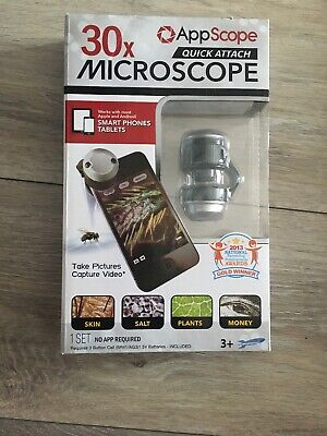 NEW Appscope Quick Attach Microscope for Phones and Tablets (Appscope Quick Attach Microscope For Phones And Tablets)