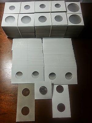 500 PCS 2x2 inch Coin Flip Nickel Size Cardboard/ Mylar Coin Flip