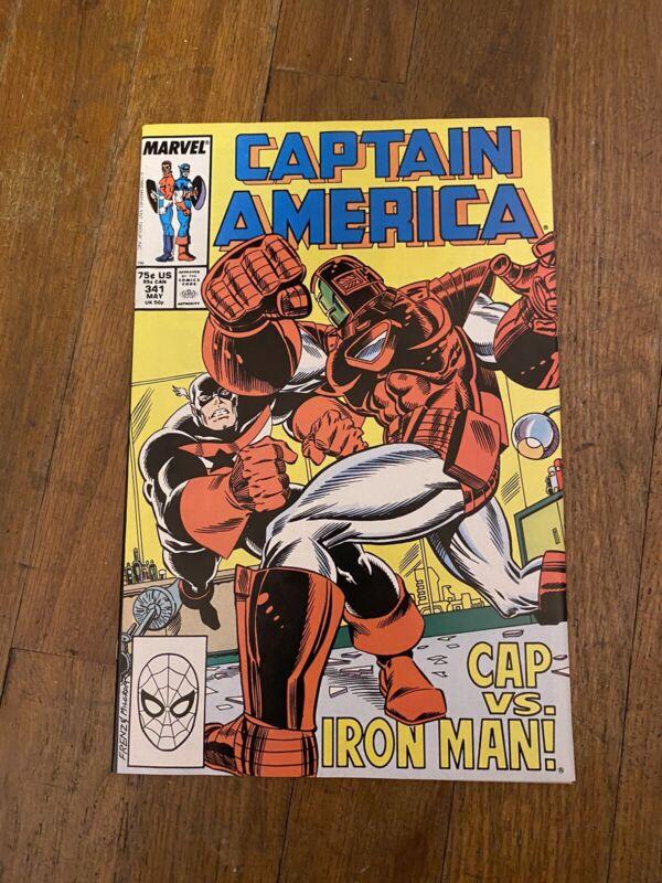 Captain America # 341 1st Appearance Lemar Hoskins as Battlestar Marvel 1988