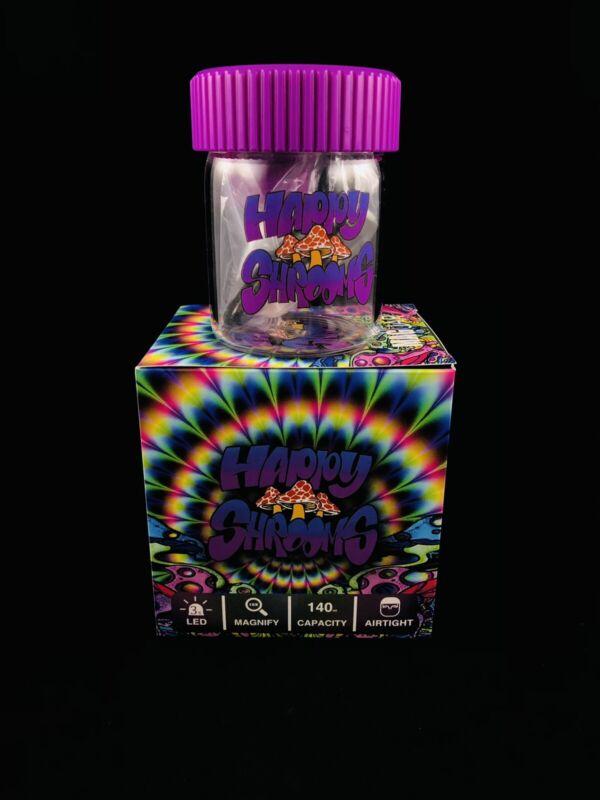 Mag Jar w/ Magnifying Light, Glass Jar w/ Chargeable LED Lights, Shroom Design