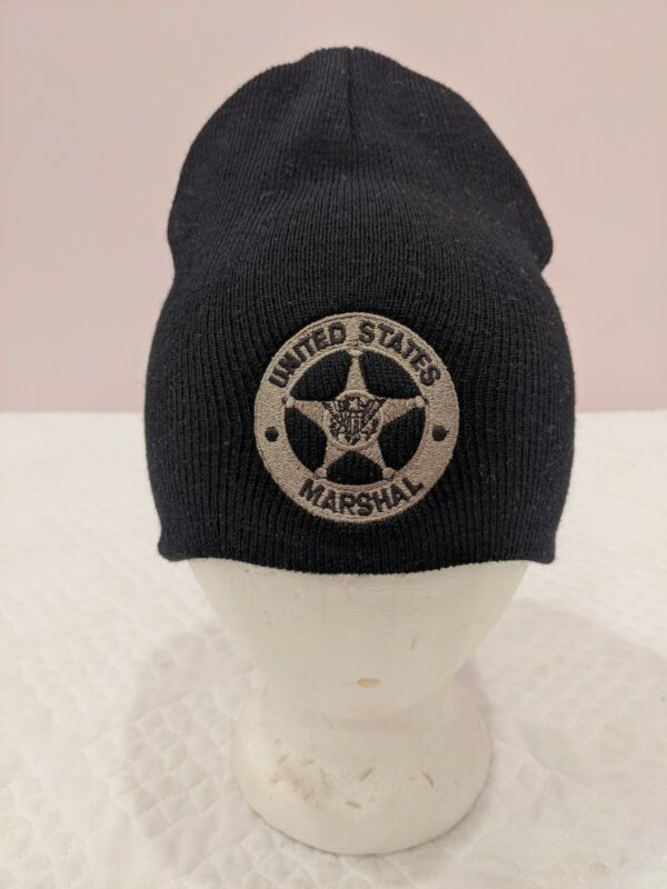USMS United States Marshal Services Beanie Hat Police Cap Law Enforcement