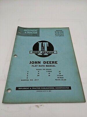 I T Tractor Shop Service Flat Rate Manual John Deere R Diesel A B G D 60 M Mt