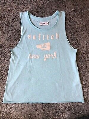 Abercrombie Kids Tank Top Sleeveless light Blue Size Large