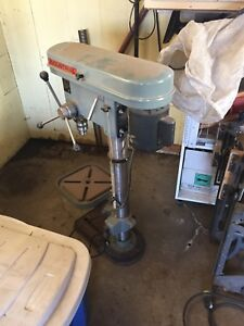 IMC industrial 16 speed drill press on rolling table