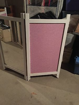 3 Panel Youth/teen Dressing Screen With -