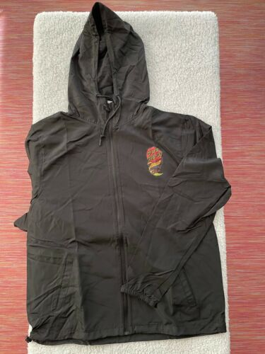 Santa Cruz GROUP DOT Hooded Windbreaker Jacket Black XL Style SF NYC LA SKATE