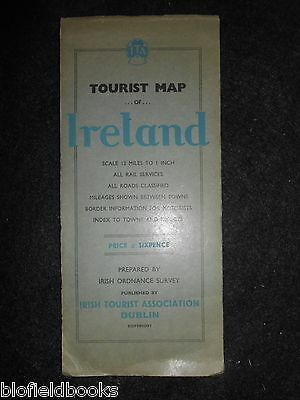 Vintage Ornance Survey Tourist Map of Ireland - 1938 - Irish Travel & Topography