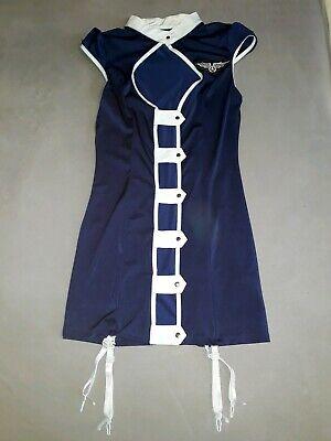 SANSELLE Stewardess Kostüm Air Hostess Costume Navy Blau Blue - Navy Blau Kostüm