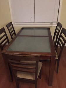 Free - Wood Table and 5 Chairs - Free!