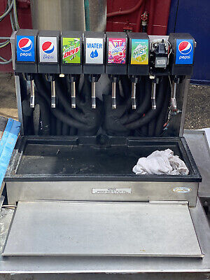 Commercial 8 Head Drop-in Soda Dispenser And W Carbonater Ice Bin And Stand