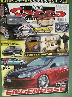 VW Speed Mai 2007, Stylische T3-Pritsche Oldschool Poster 420 PS Passat gebraucht kaufen  Falkenberg