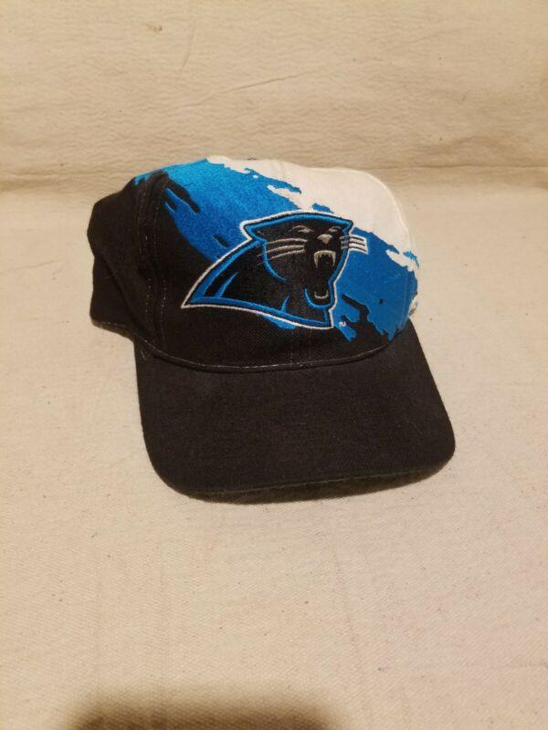 Vintage 1990s Carolina Panthers Logo Athletic Pro Line Paint Splash Snapback Hat