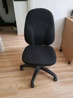 OfficeWorks Nova Delux Office Chair High Back Black
