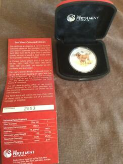Perth mint year of the ox silver coin Gosnells Gosnells Area Preview