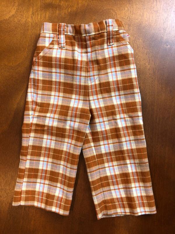 Vintage 1970s Plaid Garanimal Pants 12 Months Unisex Very Nice!