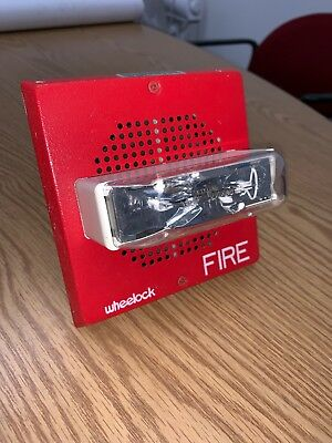 Wheelock E70-2415w Speaker Strobe Red Fire Alarm