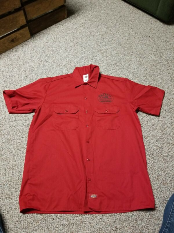 Mens Large Fireball Whisky Dickies Work Shirt NEW