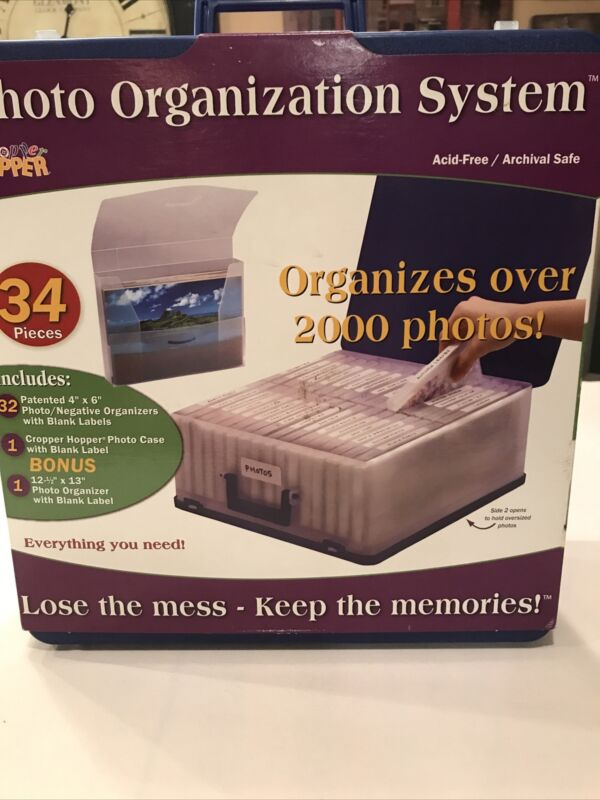Cropper Hopper Photo Organization System Storage Case 34 pieces NEW w/BONUS!
