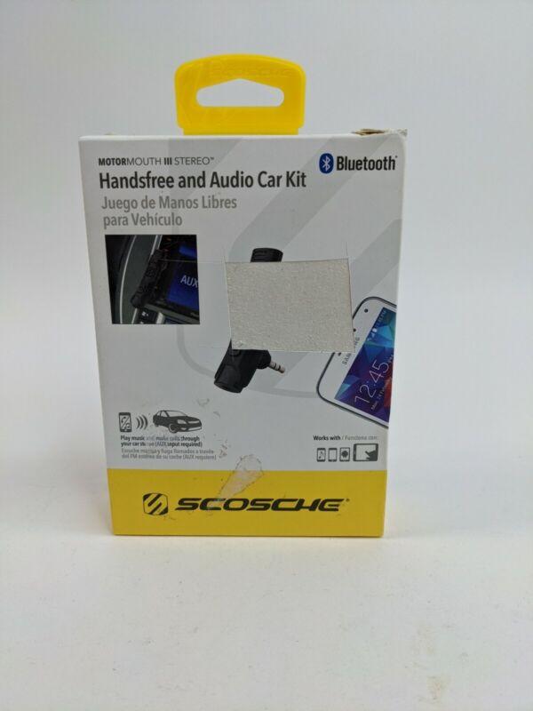 ✅ Scosche  Bluetooth Handsfree Audio AUX Car Kit