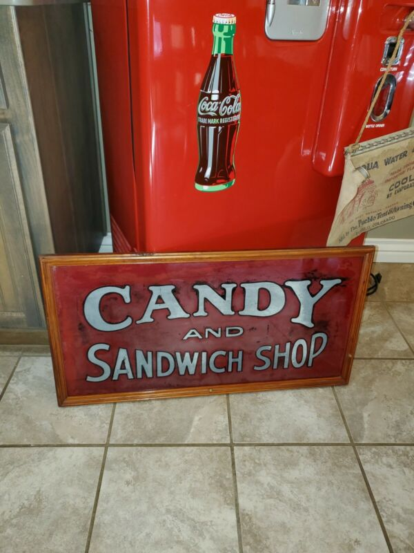 Early Candy Shop Advertising Sign