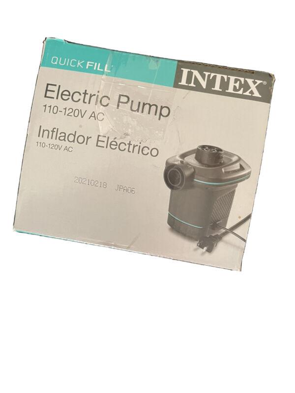 Intex 66639E 120V Quick Fill AC Electric Air Pump with 3 Interconnected Nozzles