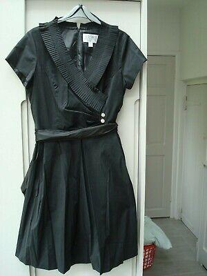 Julian Taylor Dress 16 black 50s vibe synthetic mix