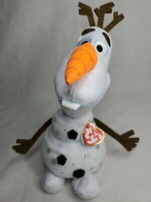 "TY 13"" Olaf Snowman Plush Stuffed Animal Permafrost 2019 Disney Frozen 2 New"