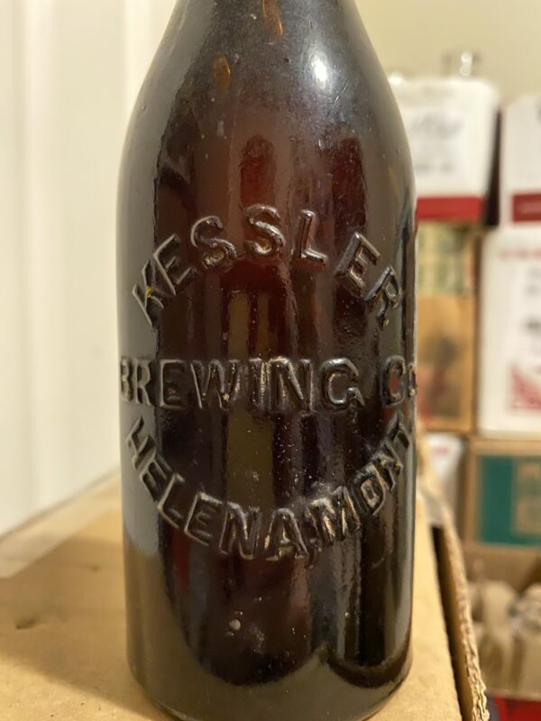 Scarce Antique Kessler Brewing Co Split Beer Bottle Helena Montana