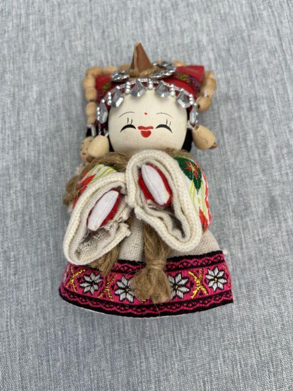 "Handmade Chinese Woman & Baby doll  5"""